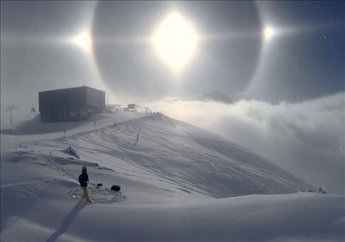 Cooler Sonnen Lichteffekt