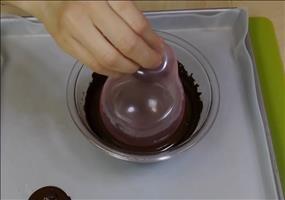 Eis-Schälchen aus Schokolade selbst gemacht