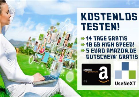UseNeXT 14 Tage GRATIS + 5€ Amazon.de Gutschein