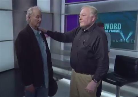 Bill Murray besoffen im Fernsehstudio
