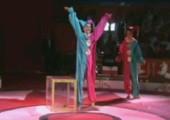 Zwei Clowns und eine Box