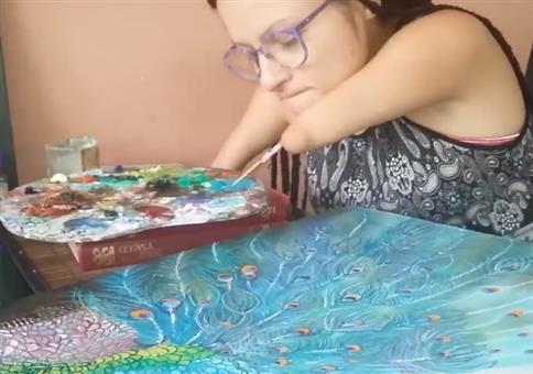 Malen ohne Hände