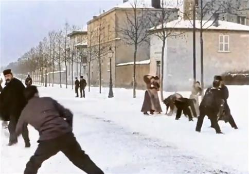 Schneeballschlacht im Jahre 1896