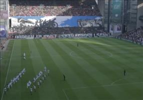 Fankurve beim Spiel FC Kopenhagen vs. Bröndby IF