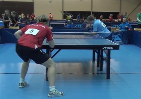 Krasse Rückhand beim Tischtennis