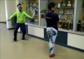 Proben für den Harlem Shake