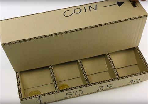 Münzsortiermaschine aus Pappe einfach selber bauen