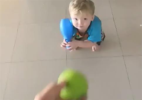 Der Kleine wird mal Baseball-Profi