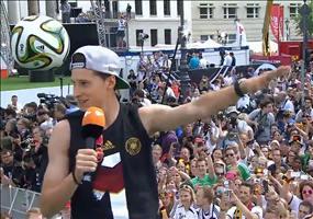 WM 2014 Feier am Brandenburger Tor Zusammenfassung