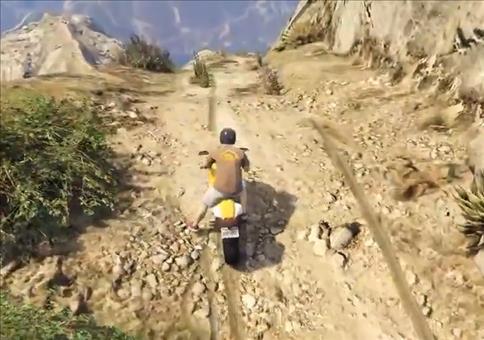 Simpler Motorradstunt in GTA 5