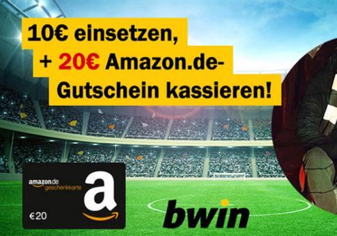 bwin KRACHER: 10€ wetten + 20€ Amazon-Gutschein!