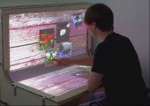 BndDesk - Geschwungenes Multitouch Display