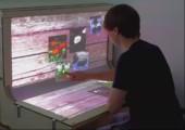 BndDesk - Geschwungenes Multitouch Display