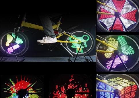 LED Fahrradreifen Beleuchtung