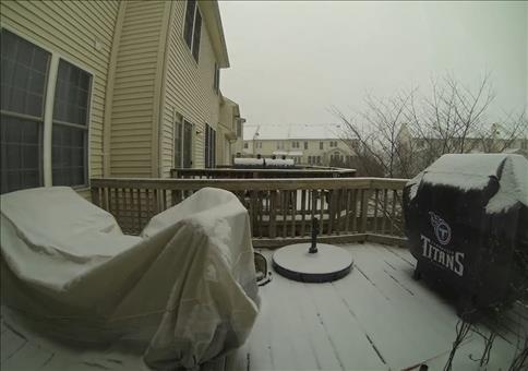 Schneefall im Zeitraffer