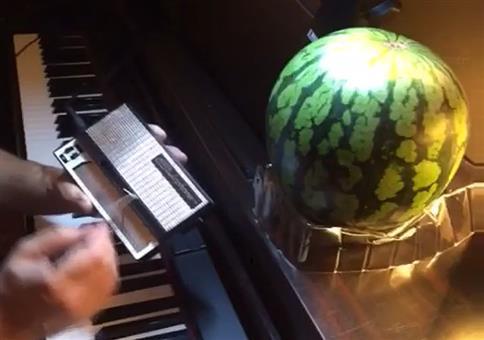 Wieso steht da eine Melone?