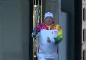 Olympische Fackel in Moskau