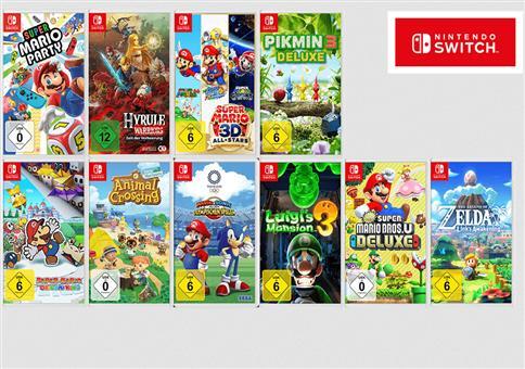 """""""3 für 2""""-Aktion auf Spiele für die Nintendo Switch"""