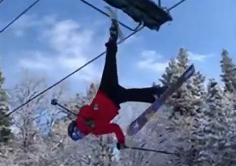 Abhängen am Skilift