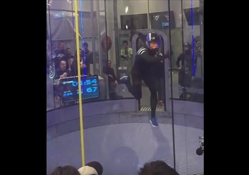 In der Luft tanzen