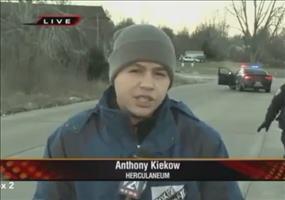 Polizist ist plötzlich ungewollt in den Live Nachrichten