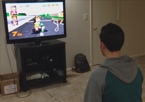 Mario Kart zocken mit Hintergrundmusik