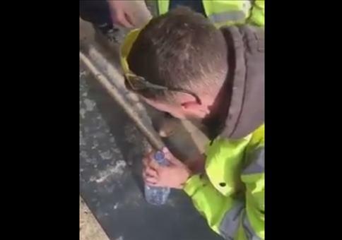 Zaubertrick auf der Baustelle