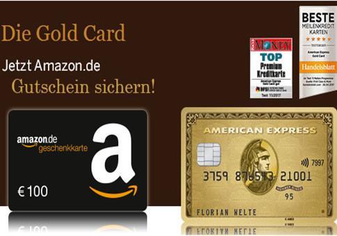 American Express Gold Card kostenlos + 100€ Bonus!