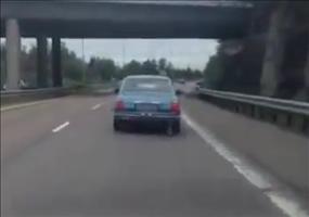Von der Autobahn driften