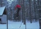 Akrobatik an der Stange