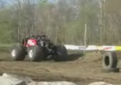 Monster Truck macht Backflip