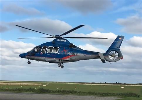 Der schwebende Hubschrauber