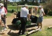 Mit dem Golf Buggy auf und davon