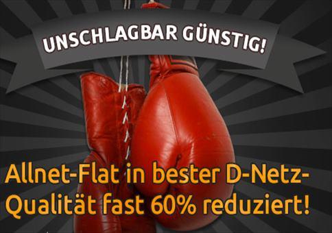 Allnet + SMS Flat + 500 MB Internet im Telekom-Netz für 14,99€