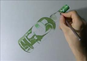 Lebensechte Flasche zeichnen