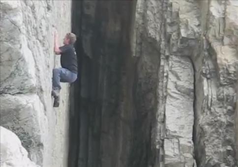 Beinahe Tragödie an der Steilwand