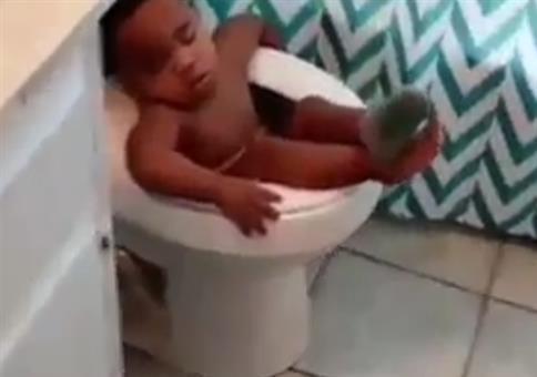 Auf der Toilette pennen like a boss