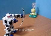 Ein Roboter und seine Waffen