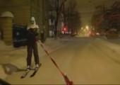 Skifahren in der Stadt