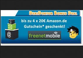 Bis zu 4x20€ Amazon Gutschein für gratis freenetMobile Tarif