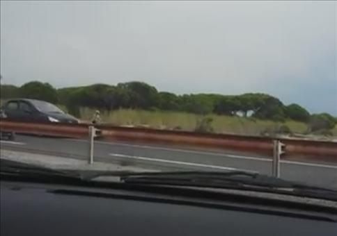Neulich auf der Autobahn -  Na wer wird denn da geschoben?
