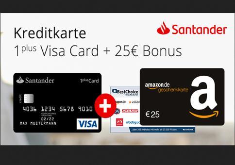 Kostenlose Kreditkarte mit 25€ Bonus!
