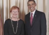Obamas starres lachen