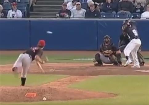 Neulich beim Baseball: Grad noch so das Gesicht gerettet