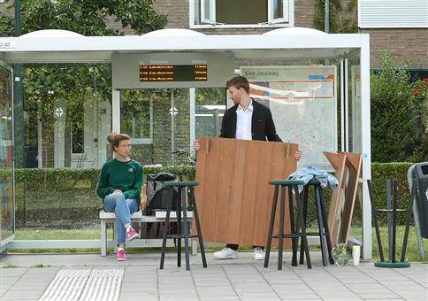 First Class Bushaltestelle in Eindhoven