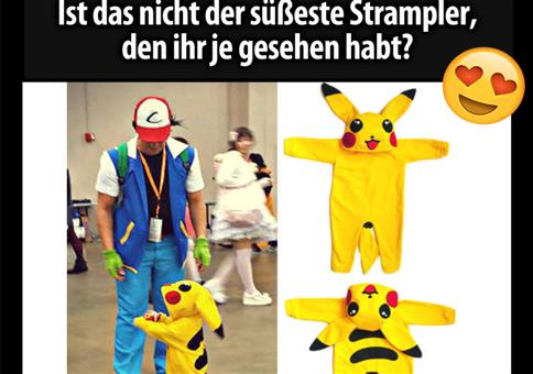 Süßer Pikachu Strampler
