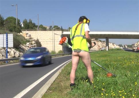 Rémi Gaillard als Bauarbeiter unterwegs
