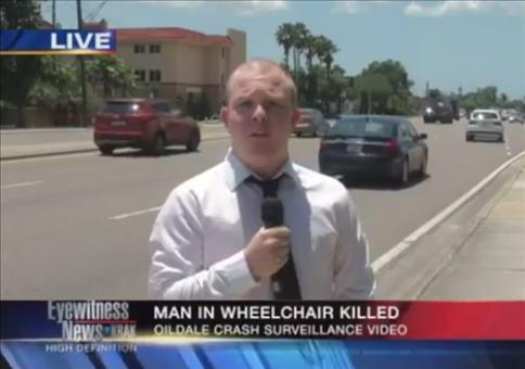 Doppelte Unterbrechung während einer Live Reportage