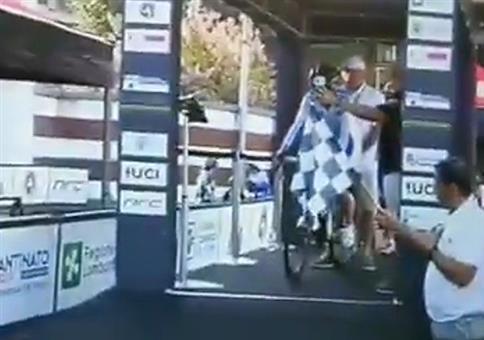 Guter Start beim Radrennen