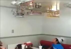 Speisezug im Restaurant